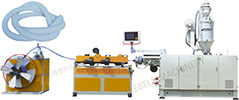 PE/PVC corrugated pipe extrusion line