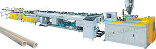 PVC double pipes extrusion line